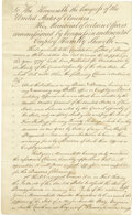 Autographs:Military Figures, American Revolution: Memorial to Congress by Continental Soldiers who feel they will be unfairly taxed by Pennsylvania, four...