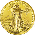 High Relief Double Eagles: , 1907 $20 High Relief, Wire Rim--Cleaned--ANACS. Unc Details, Net AU50. A faintly hairlined and lightly buffed yellow-gold e...