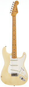 Musical Instruments:Electric Guitars, 1956 Fender Stratocaster Blonde Solid Body Electric Guitar, Serial# 14068....