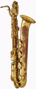Musical Instruments:Horns & Wind Instruments, 1970's Armstrong Keilwerth Brass Baritone Saxophone, Serial #74794....
