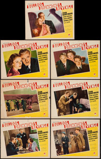"Bulldog Drummond's Revenge (Paramount, 1937). Lobby Cards (7) (11"" X 14""). Mystery. ... (Total: 7 Items)"