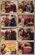 "Movie Posters:Action, Shadows of the Orient (Monogram, R-1937). Lobby Card Set of 8 (11""X 14""). Action.. ... (Total: 8 Items)"