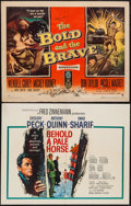 """Movie Posters:War, Behold a Pale Horse & Other Lot (Columbia, 1964). Half Sheets(2) (22"""" X 28"""") Style A. War.. ... (Total: 2 Items)"""