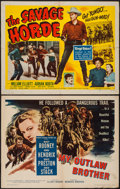 """Movie Posters:Western, The Savage Horde & Other Lot (Republic, 1950). Half Sheets (2) (22"""" X 28"""") Style B. Western.. ... (Total: 2 Items)"""