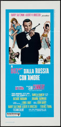 """Movie Posters:James Bond, From Russia with Love (United Artists, R-1970s). Italian Locandina(13"""" X 27.5""""). James Bond.. ..."""