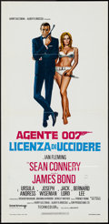 "Movie Posters:James Bond, Dr. No (United Artists, R-1971). Italian Locandina (13"" X 27"").James Bond.. ..."