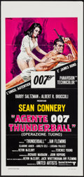 "Movie Posters:James Bond, Thunderball (United Artists, R-1970s). Italian Locandina (13"" X27.5""). James Bond.. ..."