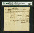 Colonial Notes:Massachusetts, Massachusetts Commissioner's Office $2.70 July 11, 1791 PMG NetAbout Uncirculated 55.. ...