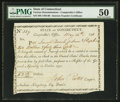 Colonial Notes:Connecticut, Connecticut Interest Transfer Certificate $2.43 May 14, 1798Anderson CT-57 PMG About Uncirculated 50.. ...