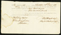 Colonial Notes:South Carolina, South Carolina Sixth of Exchange Account of Subsistence £500December 20, 1781 Very Fine.. ...