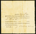 Colonial Notes:Connecticut, Connecticut Pay Table Committee Certificate £6.16s February 14,1783 Very Fine.. ...