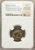 Ancients:Roman Imperial, Ancients: Lot of five imperial AR denarii or double denarii (AD 222-244).... (Total: 5 coins)
