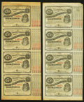 """Obsoletes By State:Louisiana, (Baton Rouge), LA- State of Louisiana $5-$5-$5-$5 """"Baby Bond"""" Uncut Sheets Two Examples. ... (Total: 2 sheets)"""