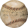 "Autographs:Baseballs, 1926-27 Joe ""Iron Man"" McGinnity Single Signed Baseball...."