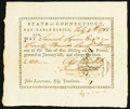 Colonial Notes:Connecticut, Connecticut Pay Table Office £20 July 4, 1783 Extremely Fine.. ...