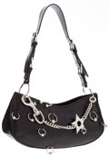 Luxury Accessories:Bags, Christian Dior Black Leather Hardcore Bag with Silver PiercingHardware. ...