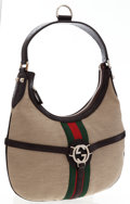Luxury Accessories:Accessories, Gucci Beige Canvas Hobo Bag. ...