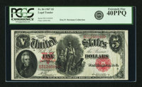 Fr. 84 $5 1907 Legal Tender PCGS Extremely Fine 40PPQ