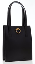 Luxury Accessories:Bags, Cartier Black Leather Panthere Tote Bag. ...
