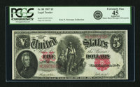 Fr. 88 $5 1907 Legal Tender PCGS Extremely Fine 45 Apparent