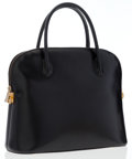 Luxury Accessories:Accessories, Celine Black Leather Top Handle Bag. ...