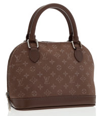 Louis Vuitton Taupe Monogram Satin Mini Alma Bag