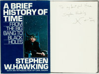 Stephen W. Hawking. SIGNED. A Brief History of Time: From the Big Bang to Black Holes. Bantam B