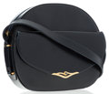 Luxury Accessories:Bags, Cartier Navy Blue Leather Crossbody Bag . ...