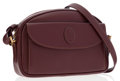 Luxury Accessories:Accessories, Cartier Burgundy Leather Shoulder Bag. ...