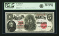 Fr. 90 $5 1907 Legal Tender PCGS Choice About New 58PPQ