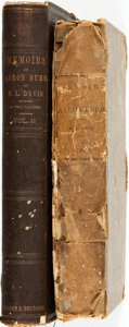 Books:Biography & Memoir, Matthew L. Davis. Memoirs of Aaron Burr with Miscellaneous Selections from His Correspondence, in Two Volume... (Total: 2 Items)