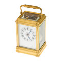 Timepieces:Clocks, French Carriage Clock With Fancy Dial For Repair. ...