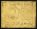 Colonial Notes:Continental Congress Issues, Continental Currency May 10, 1775 $30 Very Fine.. ...