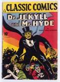 Golden Age (1938-1955):Classics Illustrated, Classic Comics #13 Dr. Jekyll and Mr. Hyde - Original Edition (Gilberton, 1943) Condition: GD/VG....