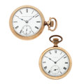 Timepieces:Pocket (post 1900), Two Elgin Open Face Pocket Watches. ... (Total: 2 Items)