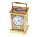 Timepieces:Clocks, L' Epee, France Hour Repeating Carriage Alarm Clock. ...