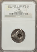 Curacao, Curacao: British Occupation Counterstamped 3 Reaal ND (1815) F15 NGC,...