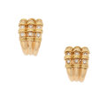 Estate Jewelry:Earrings, Diamond, Gold Earrings, Giovane. ...