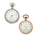 Timepieces:Pocket (post 1900), Two Waltham's Open Face Pocket Watch Runners. ... (Total: 2 Items)