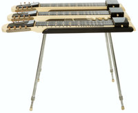 1953 National Model 1052 Grand Console White Lap Steel Guitar, Serial # X29554