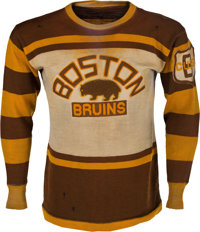 1929-31 Eddie Shore Game Worn Boston Bruins Jersey