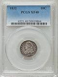 Bust Dimes: , 1832 10C XF40 PCGS. PCGS Population (33/293). NGC Census: (8/245).Mintage: 522,500. Numismedia Wsl. Price for problem free...