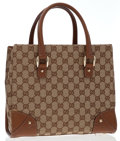 Luxury Accessories:Accessories, Gucci Classic Monogram Canvas Tote Bag. ...