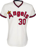 Baseball Collectibles:Uniforms, 1973 Nolan Ryan Game Worn California Angels Jersey, MEARS A8....
