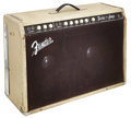 Musical Instruments:Amplifiers, PA, & Effects, 1960 Fender Twin Amp White Guitar Amplifier, Serial # 00112....