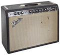 Musical Instruments:Amplifiers, PA, & Effects, 1966 Fender Deluxe Reverb Black Guitar Amplifier, Serial #A13369....