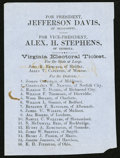 Confederate Notes:Group Lots, Confederate Virginia Electoral Ticket Printed on Blue Paper.. ...