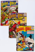 Golden Age (1938-1955):Miscellaneous, The Brave and the Bold #4, 6, and 9 Group (DC, 1956-57) Condition: Average Apparent GD.... (Total: 3 Comic Books)
