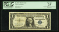 "Error Notes:Mismatched Prefix Letters, Fr. 1619 $1 1957 Silver Certificate. Inverted ""W"" in Right SerialNumber. PCGS Very Fine 25.. ..."