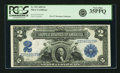 Large Size:Silver Certificates, Fr. 252 $2 1899 Silver Certificate PCGS Very Fine 35PPQ.. ...